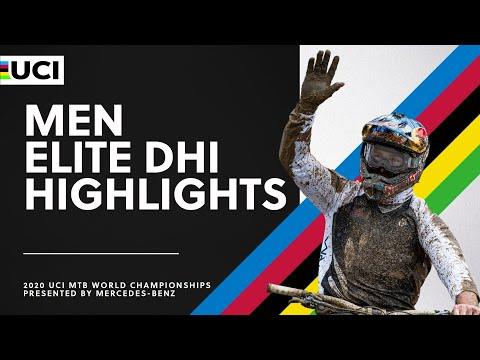 Men Elite DHI Highlights | 2020 UCI MTB World Championships