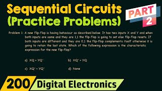 Practice Problems on Sequential Circuits (Part 2)