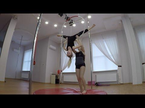 Воздушная гимнастика Воздушное кольцо Целая тренировка Barvina Sport (видео)