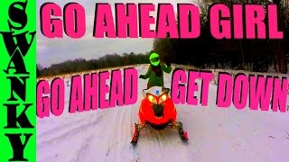 3. Girl Dancing On My Snowmobile!   Arctic Cat F5 & Polaris Dragon Snowmovlog