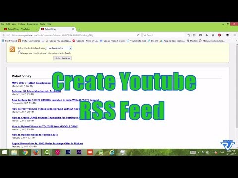 How to create RSS Feed Url for any Youtube Channel or Playlist