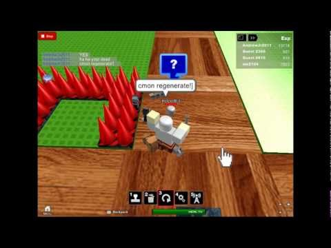 Killing Helper Bot on roblox building