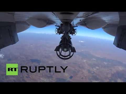 Сирия бомбардировка с камеры GoPro