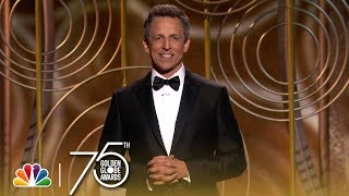Video Seth Meyers' Monologue at the 2018 Golden Globes MP3, 3GP, MP4, WEBM, AVI, FLV Januari 2018