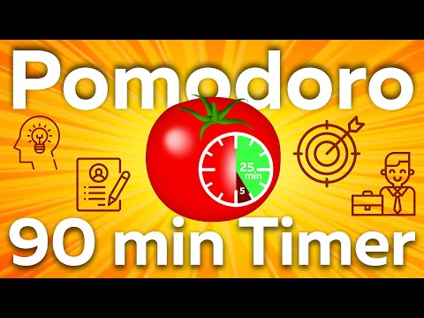 Pomodoro timer 3 cycle (25 work/5 break) | Simple Technique for 90 minutes