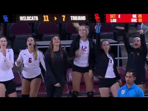 Women's Volleyball: USC 3, Kentucky 1 - Highlights 8/24/18