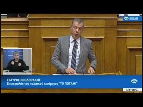 Απόσπασμα από την ομιλία του Στ. Θεοδωράκη στη συζήτηση στη βουλή για ψήφο εμπιστοσύνης 16-01-2019