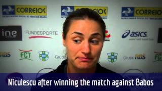 Monica Niculescu se garante na semifinal do Brasil Tennis Cup