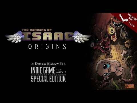 ORIGINS - This piece is an extended interview from the Indie Game: The Movie Special Edition. Binding of Isaac Rebirth is available Nov 4th. Preorder on Steam and receive a 33% loyalty discount: http://sto...