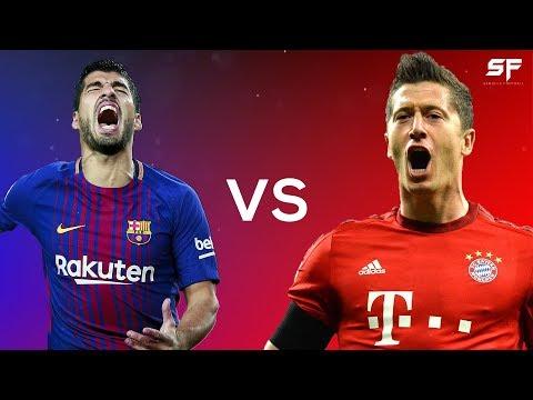 Luis Suarez vs Robert Lewandowski ● Battle of the Forwards 2018 ● Goals, Dribbling & Skills - HD