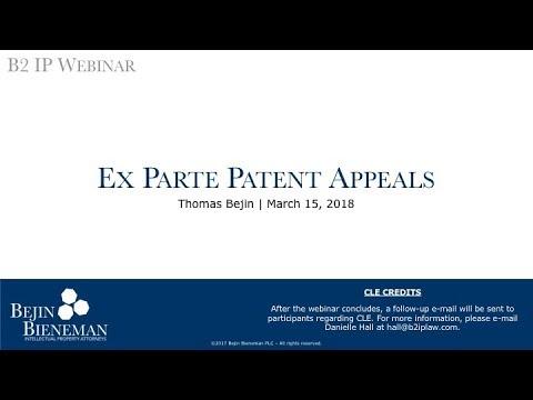 Ex Parte Patent Appeals t…