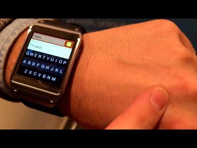 Fleksy keyboard for Galaxy Gear hands-on