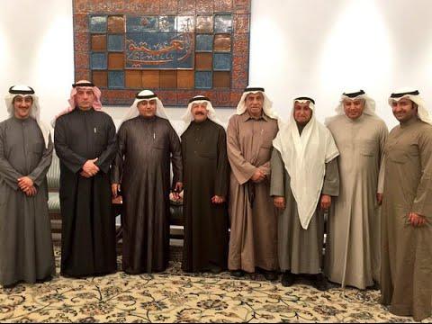 وجهاء وأعيان من أسرة العتيقي في لقاء مع حمد الحربي مؤسس قناة نيوز حرب