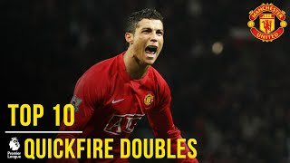 Video United's Top 10 Premier League Quick-fire Doubles | Manchester United MP3, 3GP, MP4, WEBM, AVI, FLV Agustus 2019
