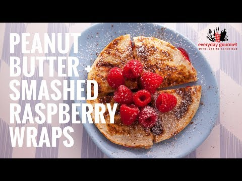 Mission Peanut Butter and Smashed Raspberry Wraps   Everyday Gourmet S6 E12