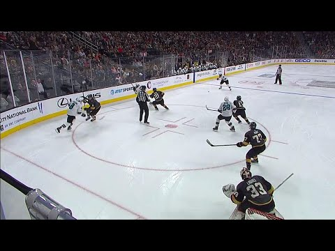 Video: Sharks' Burns rips one timer for first goal of NHL season