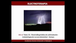 Umh1723 2012-13 Lec015c  Electrodiagnóstico De Estimulación. Metodología De Las Curvas I - T.