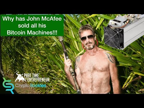 Why has JOHN MCAFEE  sold his bitcoin mining Farm? (видео)
