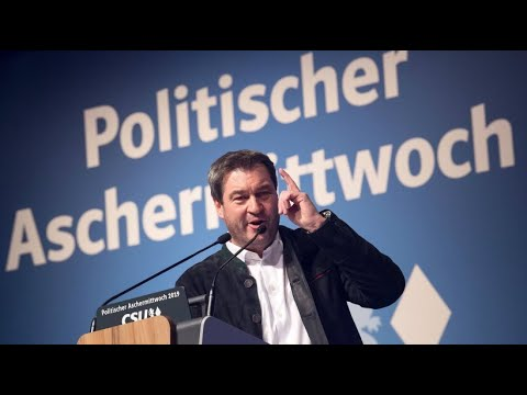 Markus Söder beim politischen Aschermittwoch: »Lasst di ...