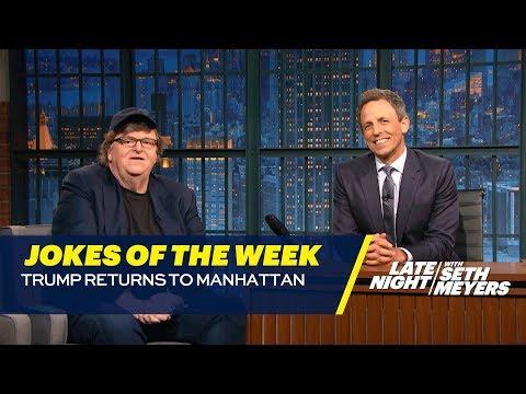 Seth's Favorite Jokes of the Week: Trump Returns to Manhattan