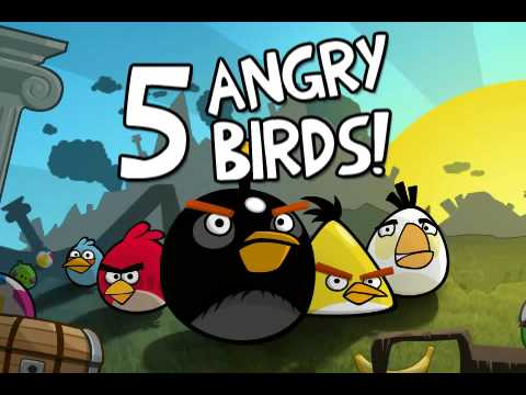 Image of Angry Birds In-game Trailer - Angry Birds - popular mobile game app angry birds by Rovio
