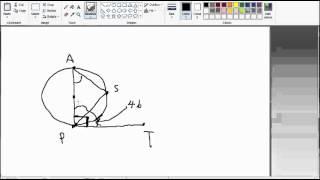 โจทย์ คณิตศาสตร์ เพิ่มเติม ม.3 วงกลม ข้อ 19