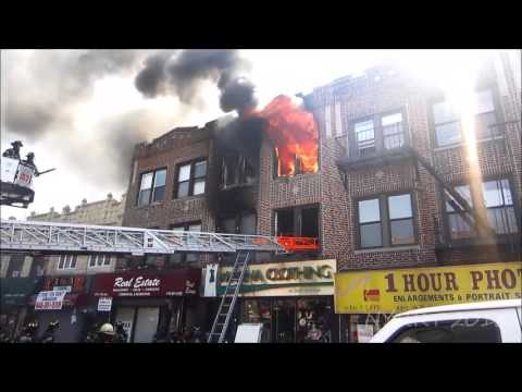 fdny - FDNY 9/11/13 Brooklyn: 2nd Alarm Box 2598 4315 18th Ave. Fire was in a 3 story 25x50/;'