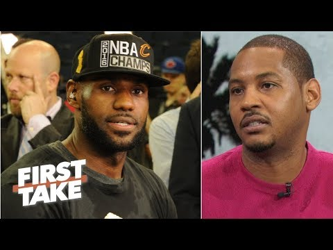 Video: Carmelo Anthony never had the teams LeBron, Dwyane Wade had | First Take