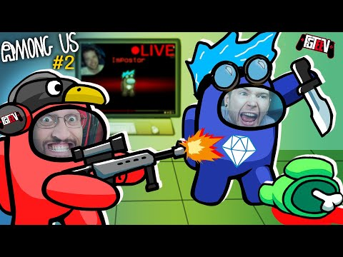 AMONG US: Stream Sniping DanTDM the Imposter [🔴LIVE] Youtuber Collab #2 (FGTeeV Sus)