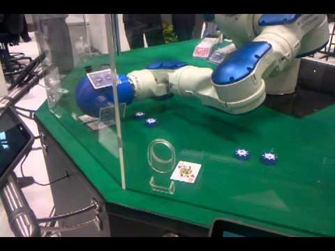 Blackjack med robot som dealer