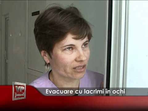 Evacuare cu lacrimi în ochi