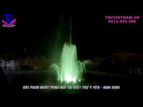 Đài phun nước phao nổi mini lắp cho biệt thự Ý Yên - Nam Định