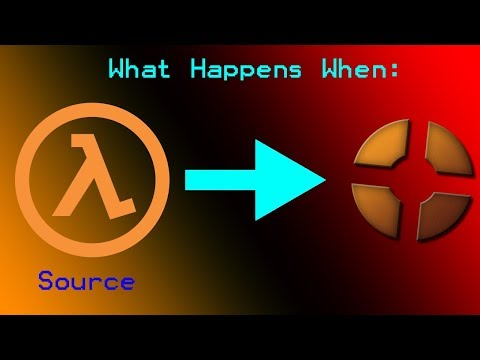 Source Mounting: Half-Life Source Mounted onto Team Fortress 2 (видео)
