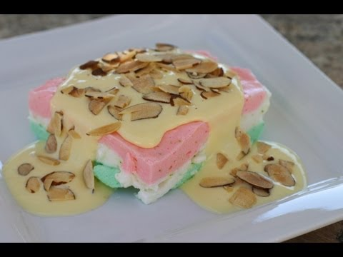 Mexican Dessert: How to Make Almendrado or Mexican Flag Dessert