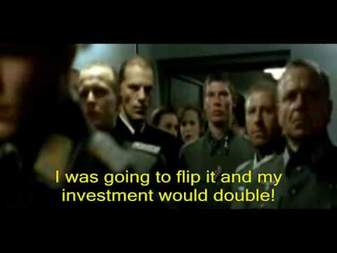 downfall - The Housing Bubble bursts on a speculator. Parody using a clip with Hitler as the real estate investor. He bought a house to flip, faces foreclosure, and now...