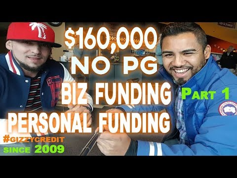 MUST WATCH! $160,000 combined Personal & No PG BizFunding in 8 months Part 1