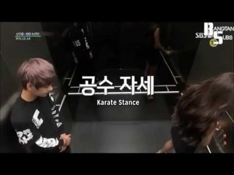 ENG Subs BTS funny LIFT SCENE Hidden Camera Prank (видео)