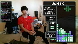 NES TETRIS - 326 Lines World Record - 12/27/2018