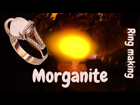 Bespoke morganite engagement ring