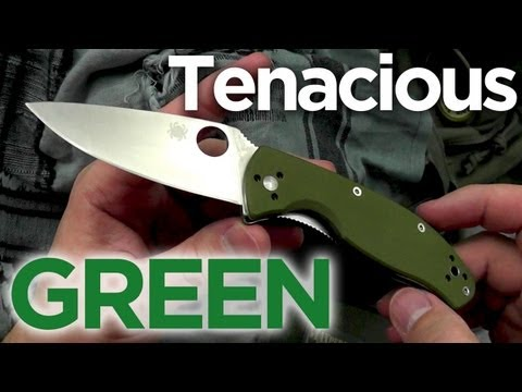 Green Spyderco Spyderco Green Tenacious