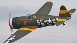 MOKI 250cc P47 THUNDERBOLT&HURRICANE AT SOUTHERN MODEL RC AIRCRAFT SHOW HEADCORN - 2013