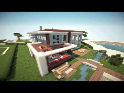 Pin minecraft modern house 6 modernes haus hd cake on for Modernes lego haus