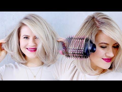 Short hair styles - THE BEST DRUGSTORE HAIR DRYER: Revlon Oval One-Step Hair Dryer & Volumizing Styler