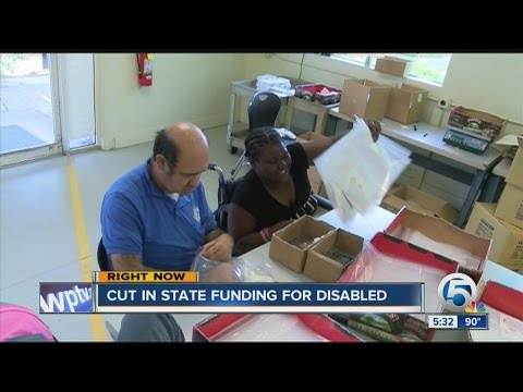 Cut in state funding for disabled