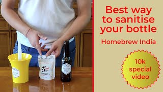 How to Sanitize Beer Bottles using Single Step cleanser and Sanitizer Rinser Pump
