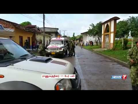 Rebel attack in Colombia leaves 11 soldiers dead