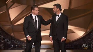 Download Youtube: Matt Damon Confronts Jimmy Kimmel After Emmys Loss