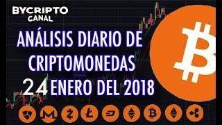 ANALISIS TÉCNICO DE CRIPTOMONEDAS BITCOIN RIPPLE ETHEREUM CASH LITECOIN 24 ENERO 2018 HOY