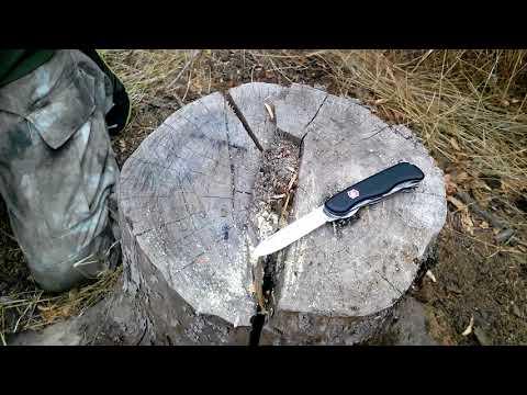 тест ножа victorinox trailmaster. test.