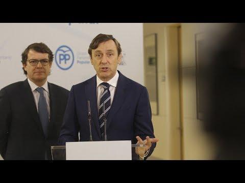 """Hernando: """"Queremos poder seguir hablando con el PSOE pensando en el interés general"""""""
